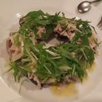 トラットリア・バッフォ - ハマグリと竹の子水菜ブルーベリーのサラダ