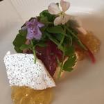 レストラン アロム - 鰹とクリームチーズのジュレ仕立て