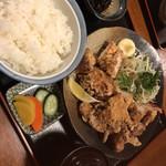 食事処 阿部 - から揚げ定食¥1080- これはCP抜群。