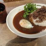 肉SAKABA 飲めるハンバーグ - スープ+カレー