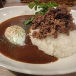 肉SAKABA 飲めるハンバーグ - カレーアップ