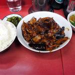 中華おぐにちゃん - 茄子と豚肉の味噌炒め定食(800円)