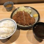 とんかつ衣浦 - ロース定食