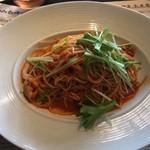 107595183 - 湘南シラスとシメジのトマトスパゲティ