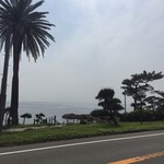 マーロウ - 道路を挟んで海です