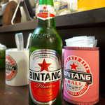 107596328 - ビンタン(¥650)。インドネシアを代表するビール、瓶のままワイルドに!