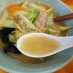 ニュー 菜苑 - スープは薄味だがコクがある!