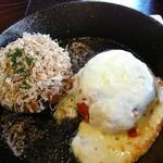 ほり川 - 料理写真:お好み焼き風とピザ風のおやき