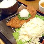 今日亭 - おろしカツ定食