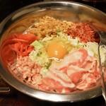 まる - お好み焼き豚天(750円)