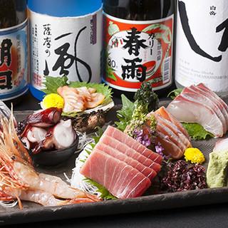 新鮮な魚介がたっぷり!刺身の盛り合わせがおすすめです♪