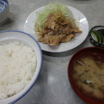伊勢屋食堂 - 豚バラ生姜焼定¥700