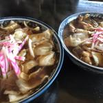 釜彦 - スープ入焼きそば  大と普通