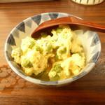 丸徳 - エンドウの卵とじ
