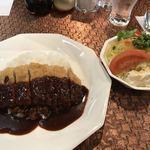 レストラン 西洋軒 - カツライス(サラダ付き)  800円→パスポートで550円に