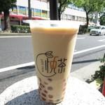 悦茶 JOY TEA - 紅茶琥珀タピオカミルクティー M
