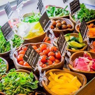 30品目以上の品揃え!名物サラダコーナーをご体験頂けます!!