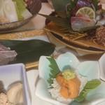 壽 - 料理写真:3500円のコースです。季節の食材を使ってます。