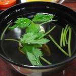 寿恵川 - 肝吸い 210円(うな重の竹と松には元々付いています。)