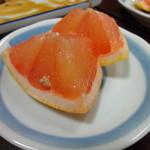 寿恵川 - デザートがつきます。