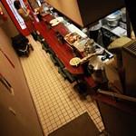 Ryuukasou - 階段から入口の方を見る