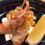 よし川 新別館 - 海老の天ぷらとトウモロコシの天ぷら