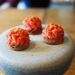 ドンブラボー - 鯖の干物とフルーツトマトのブルスケッタ(3人分)
