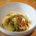 ドンブラボー - トリッパ 春野菜のソテー 熟成じゃが芋のピュレ