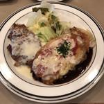 ハーベスト - 本日の盛り合わせ ミニハンバーグと豚ヒレ肉のカツレツ 890円