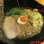壱蔵 - ねぎらぁめん(塩、中麺) \800