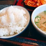 あみ焼ハウスせせらぎ - ご飯とお味噌汁