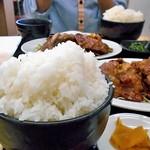 らーめん食堂 正味 - 「焼肉定食(倍盛)」のご飯