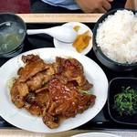 らーめん食堂 正味 - 生姜焼き定食(倍盛)