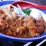 中華そば JAC - 煮染めた豚バラ肉