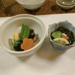 鯛屋旅館 - 小鉢と炊き合わせ