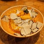 十番右京 - トリュフたまごかけご飯 ウニとキャビアと金箔の贅沢トッピング