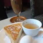 喫茶室ルノアール - 水出しアイスコーヒー&モーニングセット