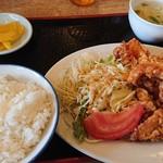 北京飯店 - 料理写真:唐揚げ定食