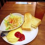 プロント - ビタミンサラダ&チーズオムレツセット(490円税込)