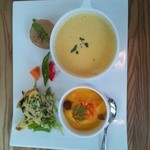 10769150 - 3種類の前菜のようなもの+スープ