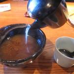 蕎・馳走 岩舟 - 蕎麦湯は嫌みの無い濃度
