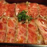 江戸庄 - レアステーキ丼