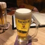 花ノ宮 いいとも - ドリンク写真:生ビールはプレモル
