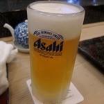 秀寿司 - 生ビールはスーパードライ