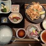 西村屋 和楽 - 料理写真:昼膳(桜海老と淡路玉葱のかき揚げ)
