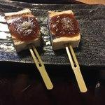 勘四郎 - 味噌田楽は胡麻生姜とトマト味噌。