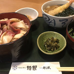 田園 - ほっき定食&ミニ天ぷらうどん