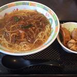 ほのBuono - 料理写真:日替わりメニュー「しめじともやしの麻婆ラーメン(小鉢付)」