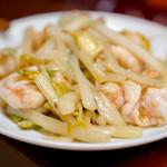 東坡 - 海老とセロリ炒め