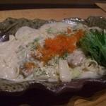 海鮮魚介と日本酒 旬彩和食くつろぎ - 和風海鮮クリームパスタ